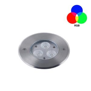 โคมไฟใต้น้ำ LED RUW-RGB 9W ไฟใต้น้ำเปลี่ยนสีได้