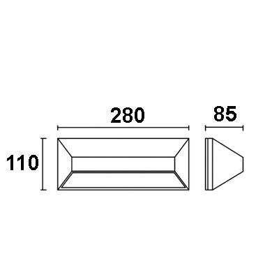 Drawing โคมไฟติดผนังภายนอก-ขั้วE27-VICK