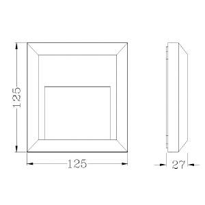 Drawing-ไฟบันได-HANA-B-3W-LED