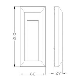 Drawing ไฟบันได-HANA-C-3W-LED