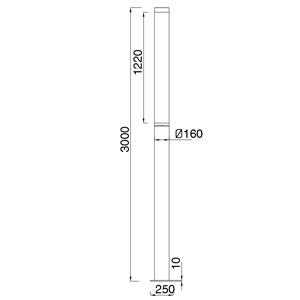 Drawing Pole top light โคมไฟเสาสูง RANCE T8x2