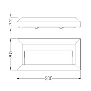 Drawing ไฟสเตปไลท์-HANA-D-3W-LED